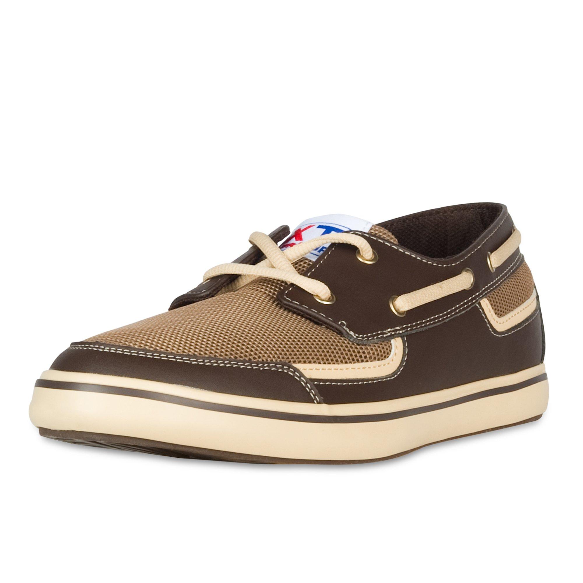 XTRATUF Bluefin Men's Microfiber Leather Deck Shoes, Chocolate (22604)