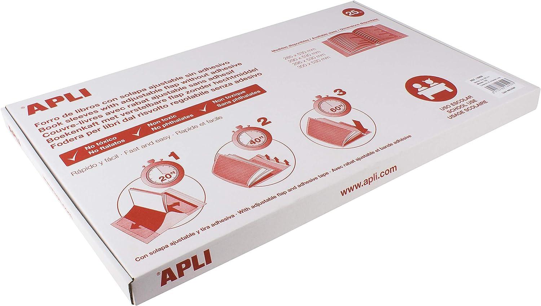 Caja 25 Fundas Forro Libros Autoajustables PVC 300mm Apli16910 ...