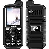 Vkworld V3 Plus telefono cellulare Dual-Sim GSM IP54 resistente all'acqua, telefono grandi pulsanti ed estrema durata della batteria ( batteria con capienza 3000 mAh) torcia ultra potente.Arancia