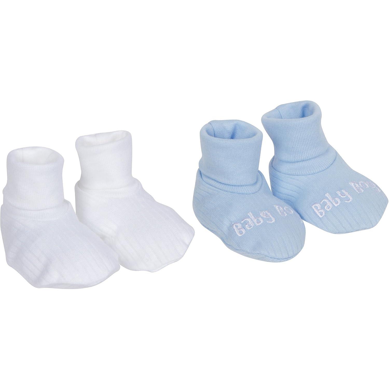Gerber Baby Boy's 2-Pack Textured Booties, Blue, NB 2255521DA BW3 NBI