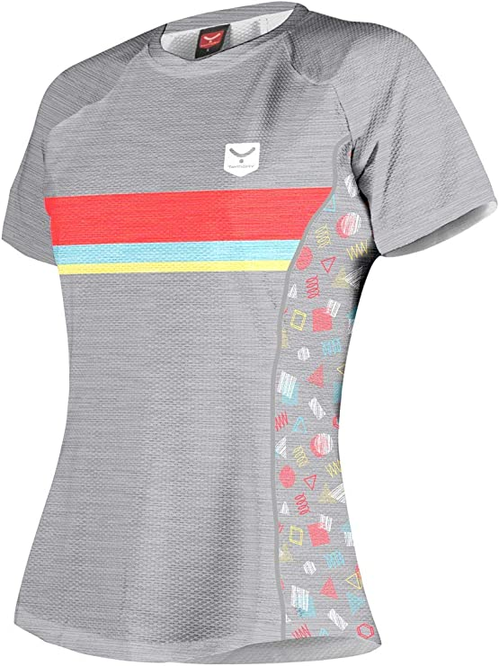 TAYMORY Camiseta Deportiva Manga Corta WHOOPIE para Running Mujer Multicolor: Amazon.es: Deportes y aire libre