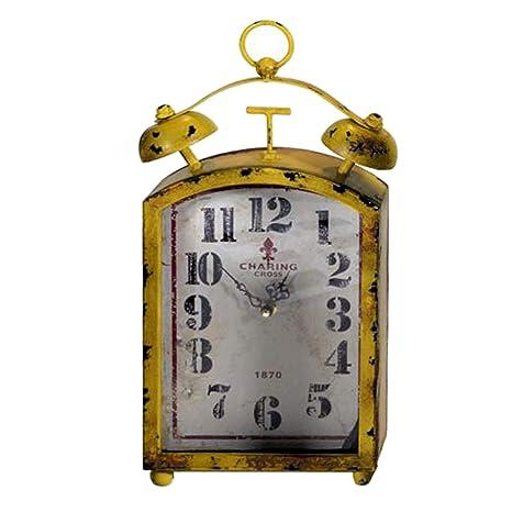 Vacchetti S.p.A Reloj Mesa Metal Amarillo 39 cm: Vacchetti ...