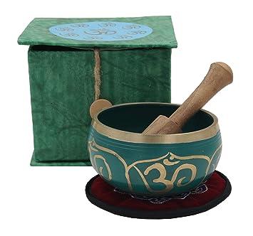 Amazon.com: dharmaobjects azul tibetano Om de meditación de ...