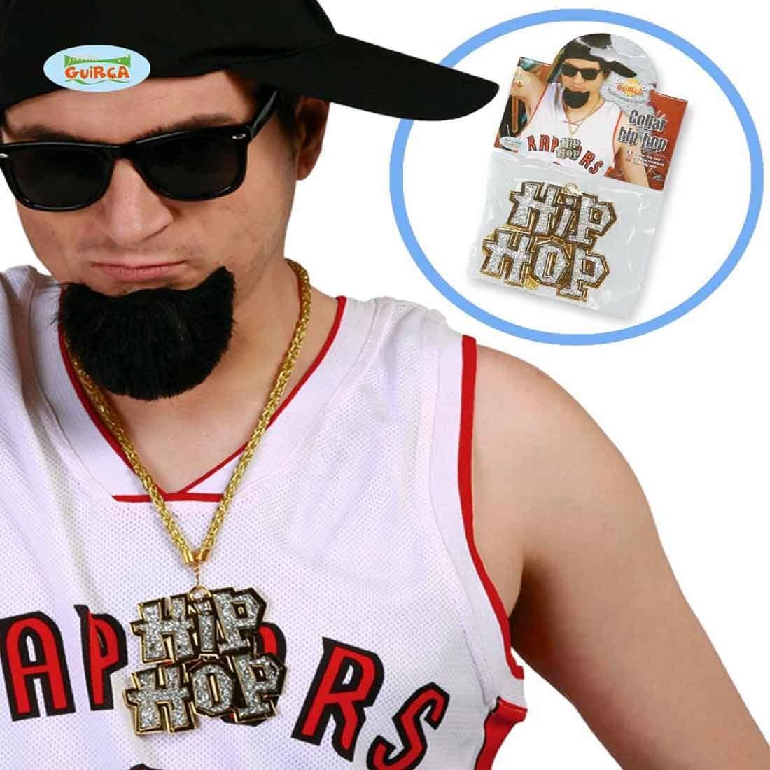 NET TOYS Cadena Hip Hop Collar Rapero Accesorio Disfraz gángster ...