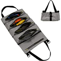 Tool Roll, MDSTOP Multifunctionele Tool Roll Up Bag, Wrench Roll Pouch, Waxed Canvas Tool Organizer Emmer, Tool Pouch…