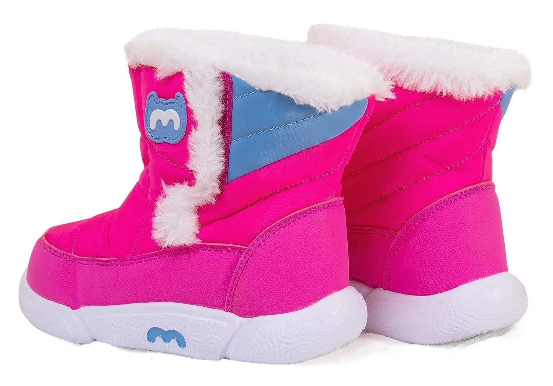BMCiTYBM Toddler Snow Boots Girls Boys Little Kid Winter Outdoor Lightweight Shoes