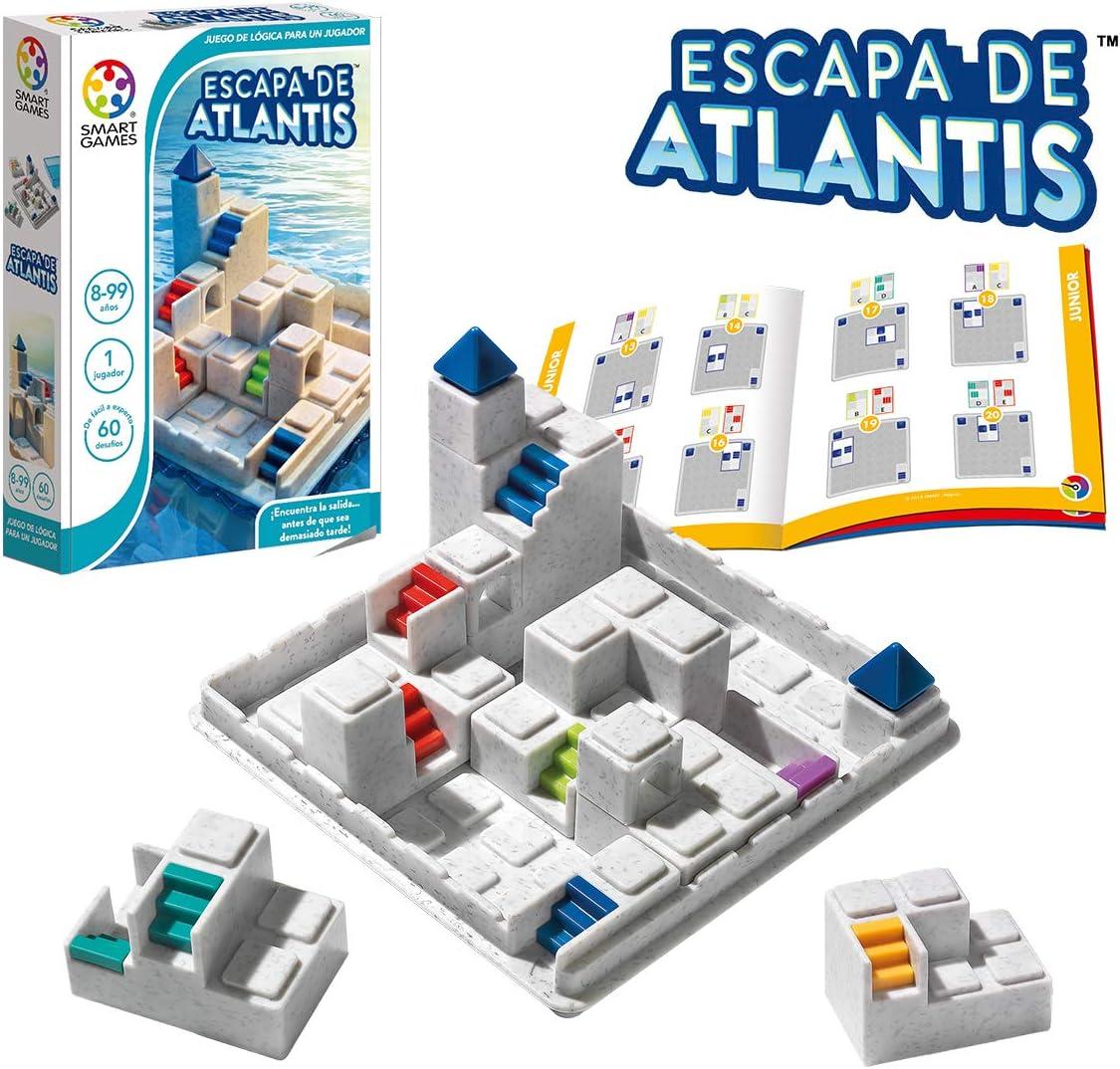 smart games- Escapa de Atlantis, Multicolor (Lúdilo SG442ES): Amazon.es: Juguetes y juegos