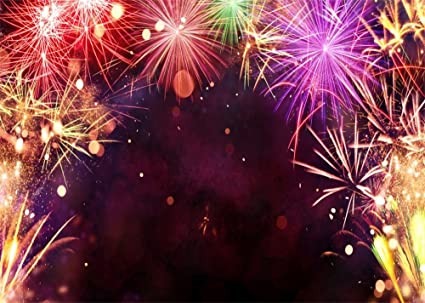 leowefowa 7x5ft fireworks backdrop bokeh halos glitter sequins romantic happy new year celebrate vinyl photography background