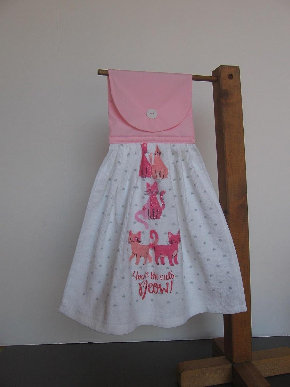 Valentine Kitten Kitchen Tea Towel, Saying Towel, Hanging Dish Towel