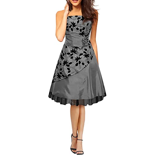 BlackButterfly Sia Essence Satin Floral Party Prom Dress