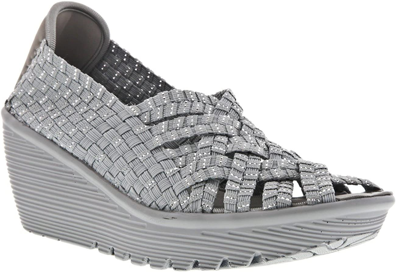 Weave It Womens Wedge Sandals