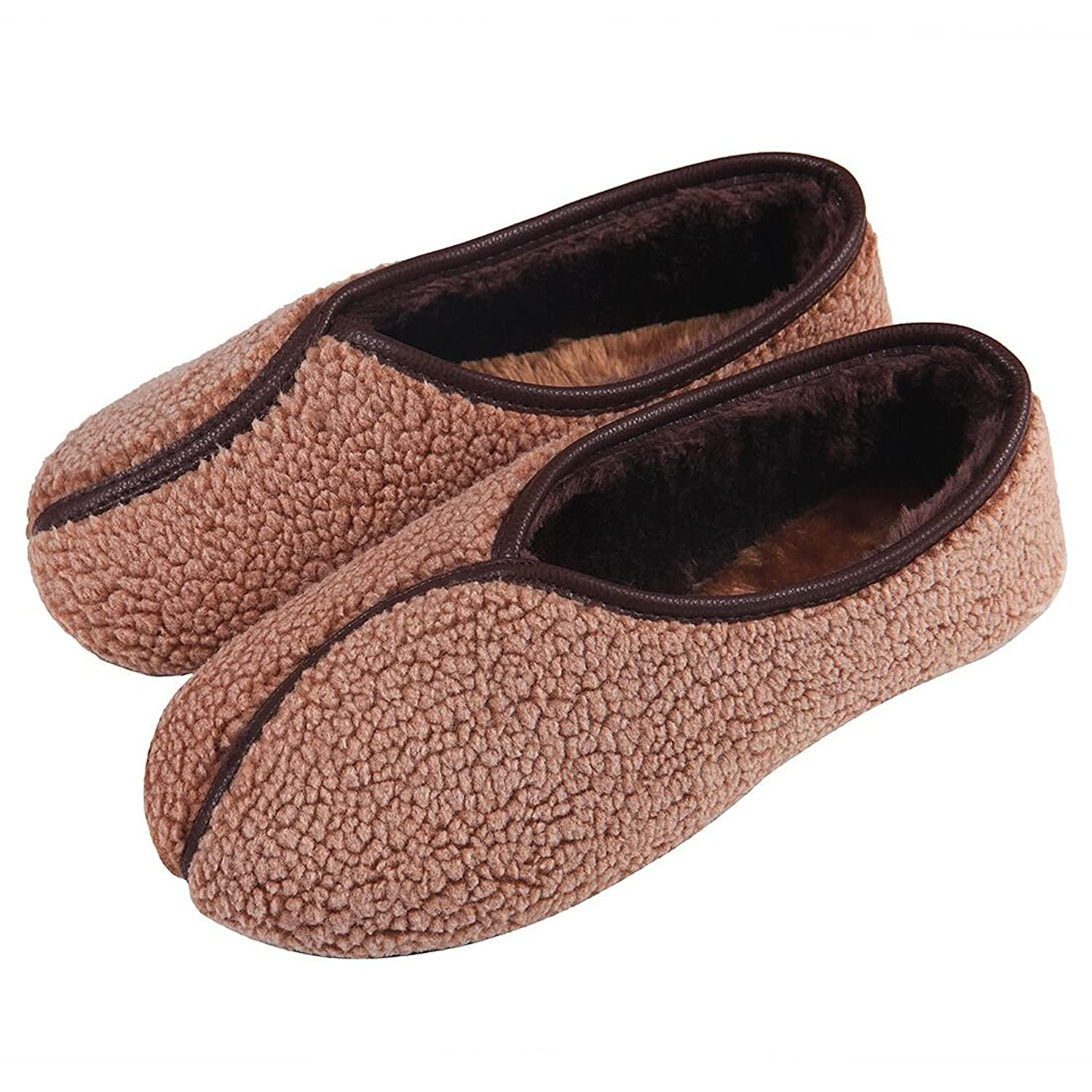 ChicNChic Women Vintage Casual Slippers Cozy Lambswool Classic Flats Shoes Indoor outdoor Shoes