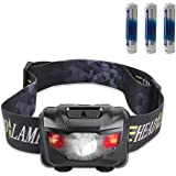 CREE LED Headlamp Flashlight with Red Lights, Waterproof Head Light for Running, Camping, Reading, Kids, DIY & More - 3 AAA batteries included(black) by STCT Street Cat