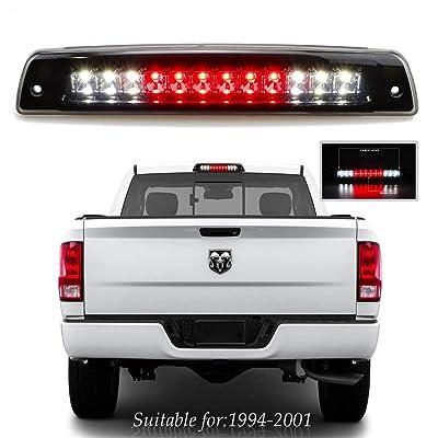 3rd Brake Light Carge Light High Mount Brake Light for 1994-2001 Dodge Ram 1500 2500 3500 Smoke Lens LED Light Lamp: Automotive