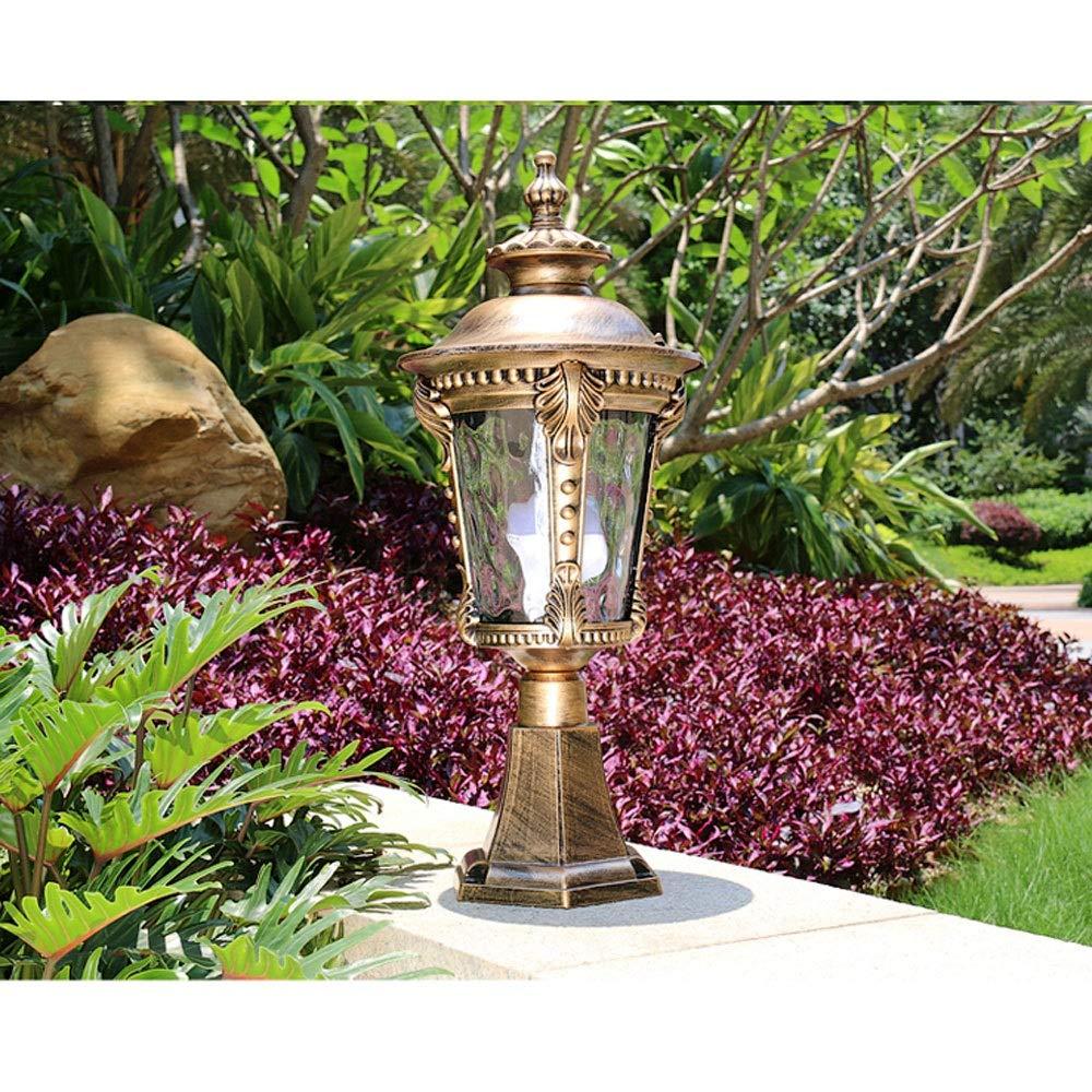 Waterproof Wall Light/Outdoor Column Head Light/Villa Garden Door Light/Door Light/Garden Light/Wall Lamp (Color : Bronze 2) by Outdoor lighting (Image #3)