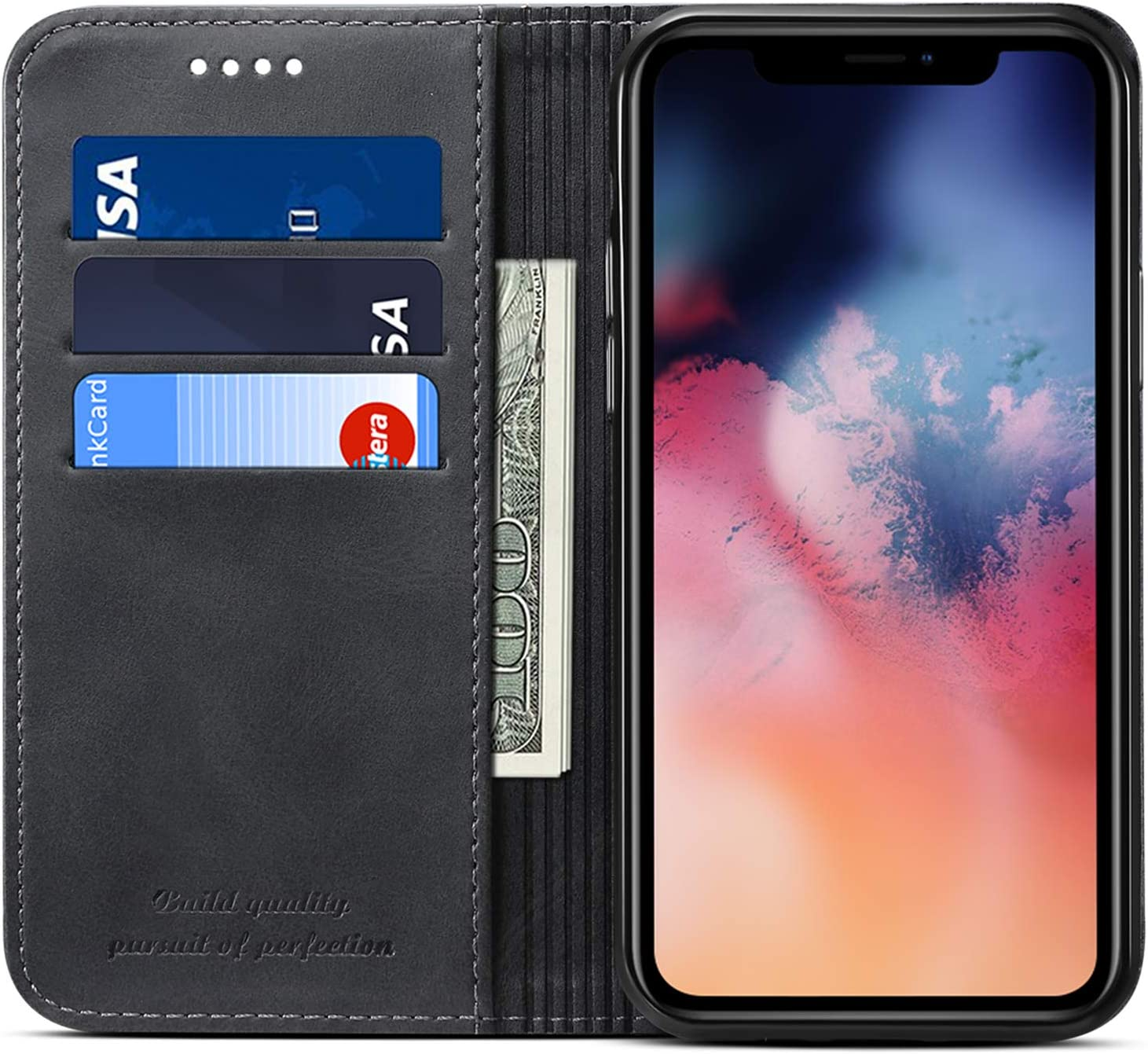 Amazon.com: SUTENI Compatible with iPhone 12 Wallet Case, Stand ...