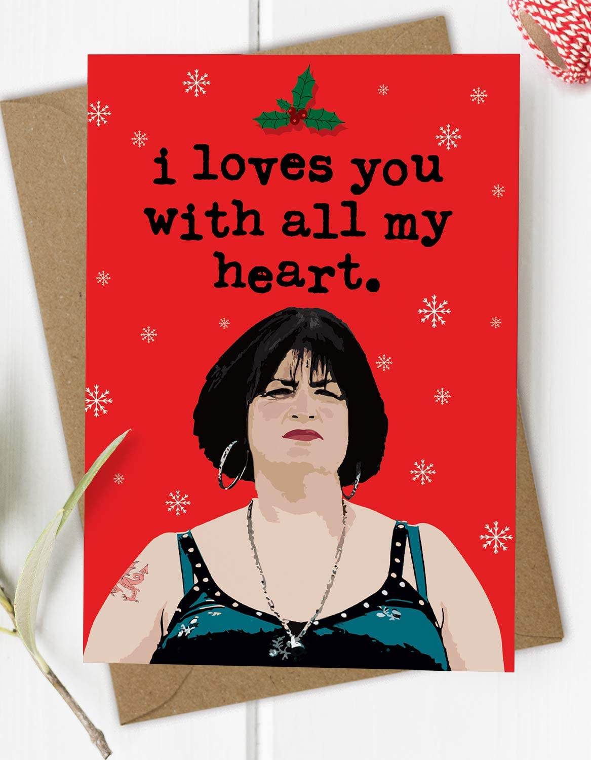Wife Love You Nessa Gavin /& Stacey Husband Christmas Card For Him Her Partner