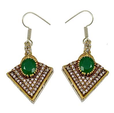 Buy Gauri's Emerald Gemstone Designer Turkish Victorian