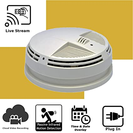 Amazon.com : Discover IT | Wi-Fi Hidden Camera Spy Cam Home Surveillance Nanny Cam Night Vision Smoke Detector (Side View) with Cloud Video Recording ...