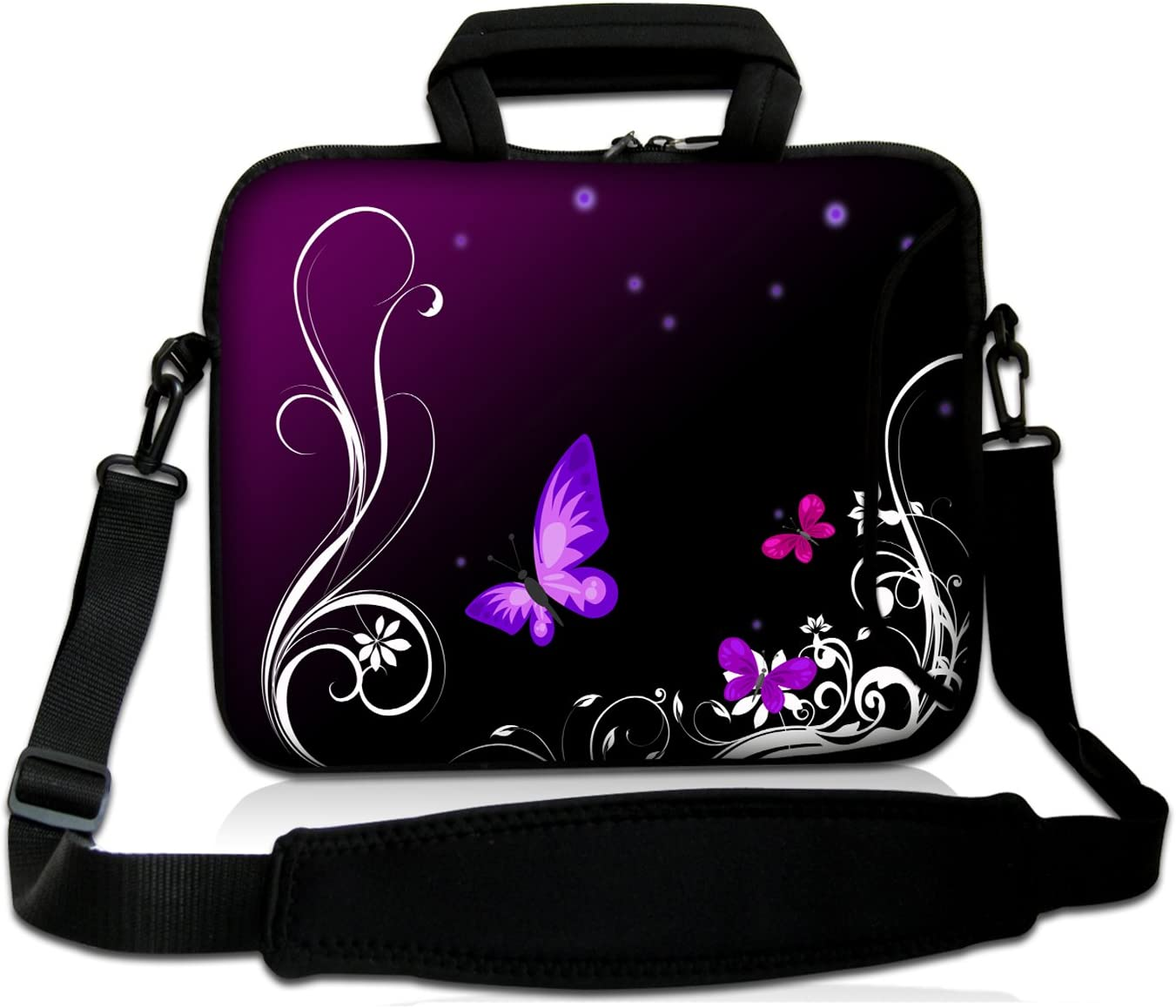 17 Inch Laptop Bag with Handle Water Resistant Many Blue Butterfly Laptop Briefcase for Working School Men /& Women