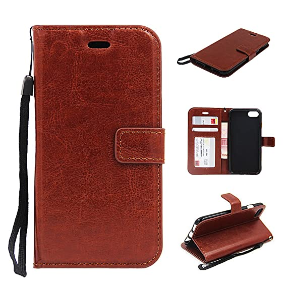 hot sale online 79bd7 ab089 for iPhone 7 Plus Case,RJTCASE Leather Flip Stand with Card Holder Wallet  Skin Pouch Cover Case for Apple iPhone7 iPhone 7 Plus 5.5