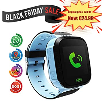 Smartwatch para Niños, Con SOS Anti-Lost Alarm, GPS+LBS Localizador /Tracker, Perímetro de Seguridad, Cámera, Alarma, Linterna, Juegos Digitales, ...