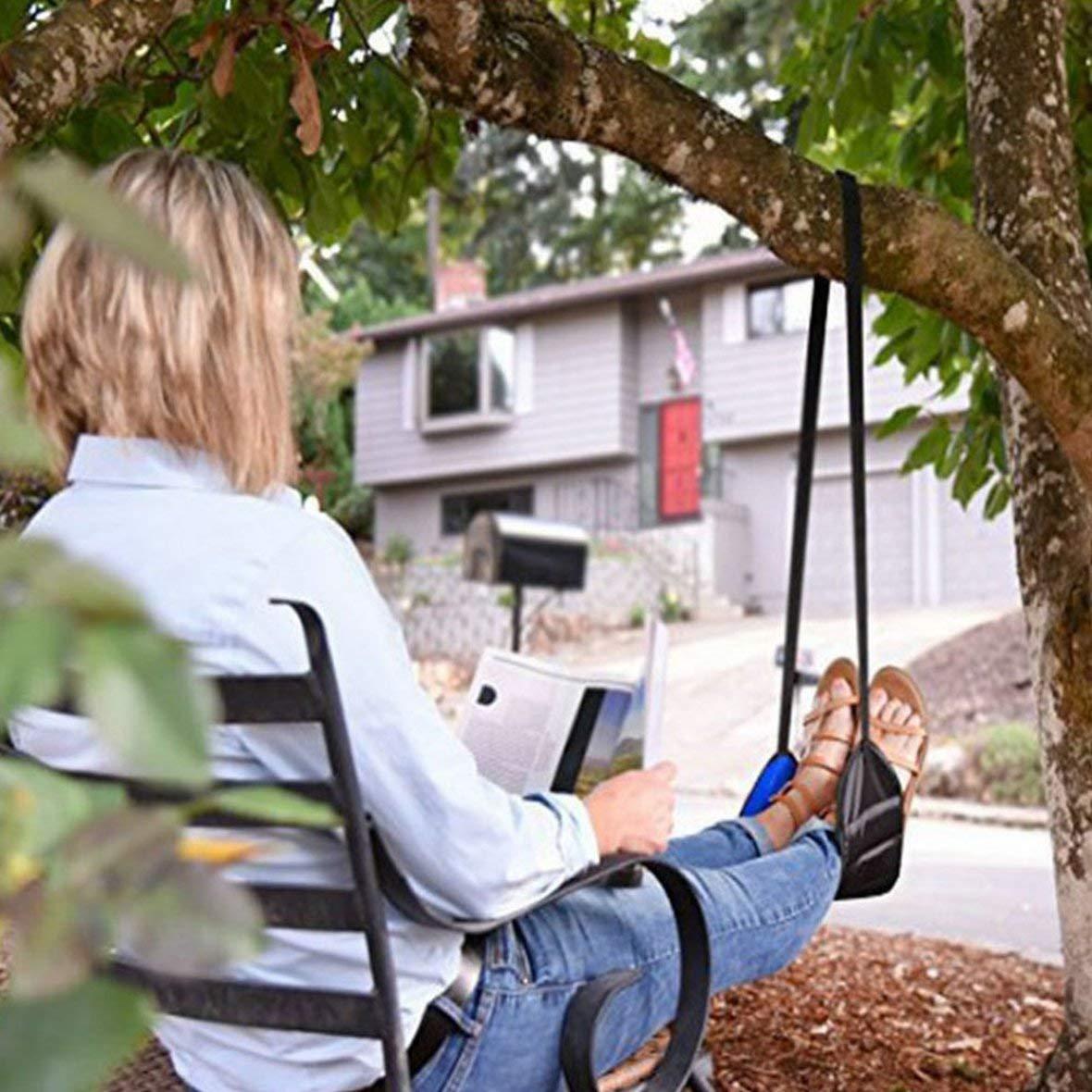 Heaviesk Pieds de Bureau Unisexe Outil de Soin de Chaise de Pied dhamac Le Repos dhamac de Pied de lit ext/érieur Berceau Portable de Bureau hamac Pied Mini de Repos