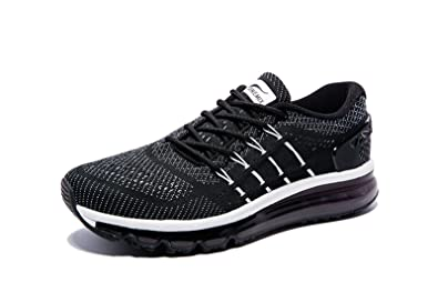 new product 8f440 25b8c ONEMIX Homme Air Baskets Course Gym Fitness Sport Chaussures Noir Blanc  Taille 39 EU