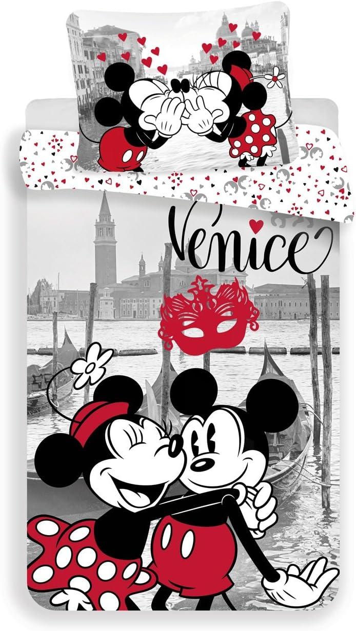 Jerry Fabrics Literie/Mickey /& Friends Caract/ère/ Housse de Couette Coton Multicolore 200x140x0,5 cm