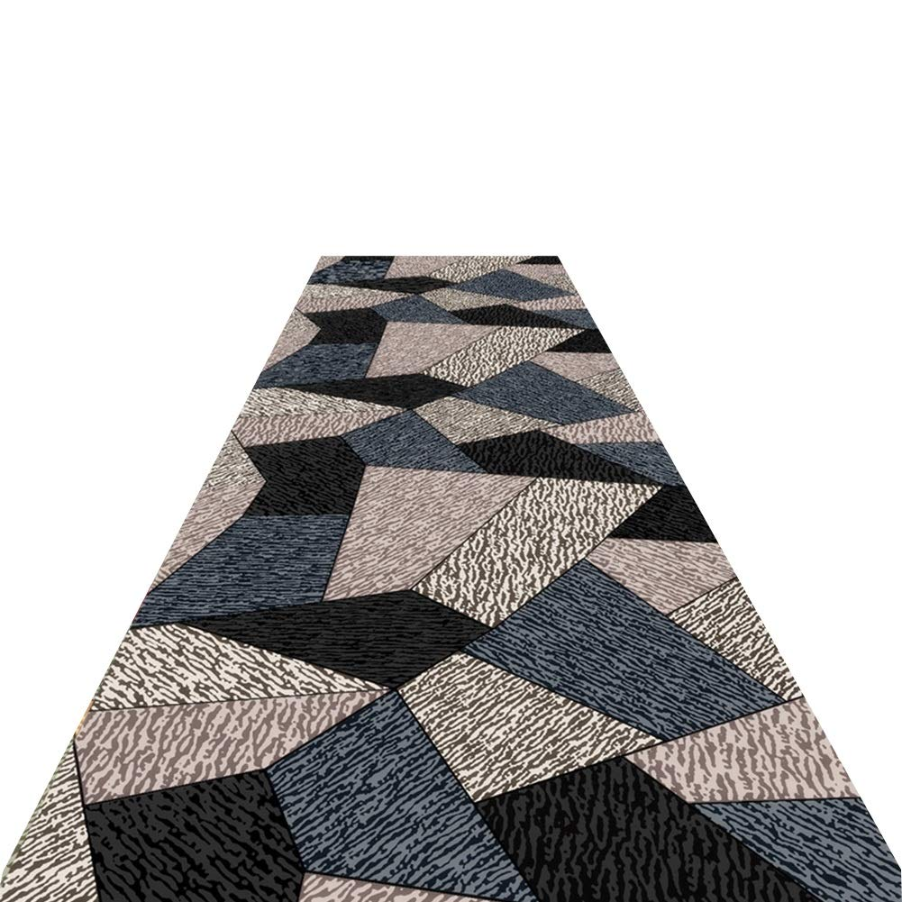 ZENGAI-Läufer Teppich Flur Läufer Teppiche Flur Läufer-Teppich Premium Qualität Teppich Wohnzimmer Schlafzimmer Foyer-Pad Dauerhaft Anpassen 2 Farben (Farbe : A, größe : 1x3m)