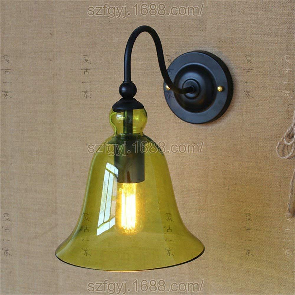 Eeayyygch Wandlampe Kreative Wandlampe Pastorales einfaches Glas Mickey USA Pastorale Beleuchtung Wohnzimmer Korridor Dekorative Wandlampe Gelb (Farbe   -, Größe   -)
