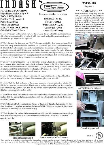 Padholdr Social Series Premium Tablet Dash Kit for 2006-2011 Toyota Rav 4 Models