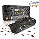 Cockroach Traps, Non-Toxic ECO-Friendly, Killer Safe And Effective Quickly Captured Roaches (10 Traps + 1 Free) with Bait Included