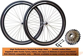 700 C bicicleta híbrida rueda frontal y trasero freno de llanta ...