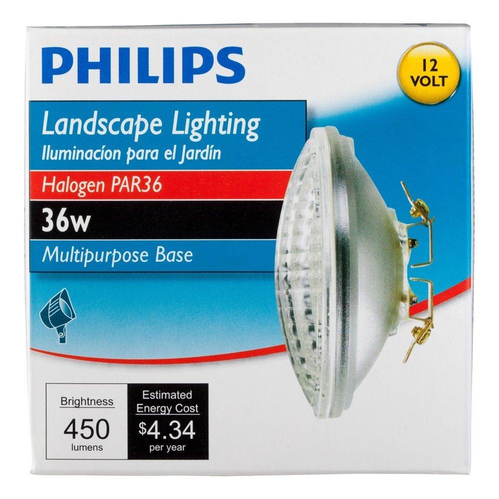 Philips 415257 Landscape Lighting 36-Watt PAR36 Flood Light 12-Volt Multi-Purpose Base Light Bulb 6 Pack by PHILIPS (Image #2)