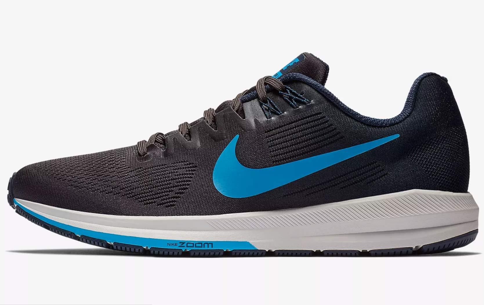 fe9f547b8fae5 Galleon - Nike Men s Air Zoom Structure 21 Running Shoe Obsidian Blue Hero- Thunder Grey 7.5