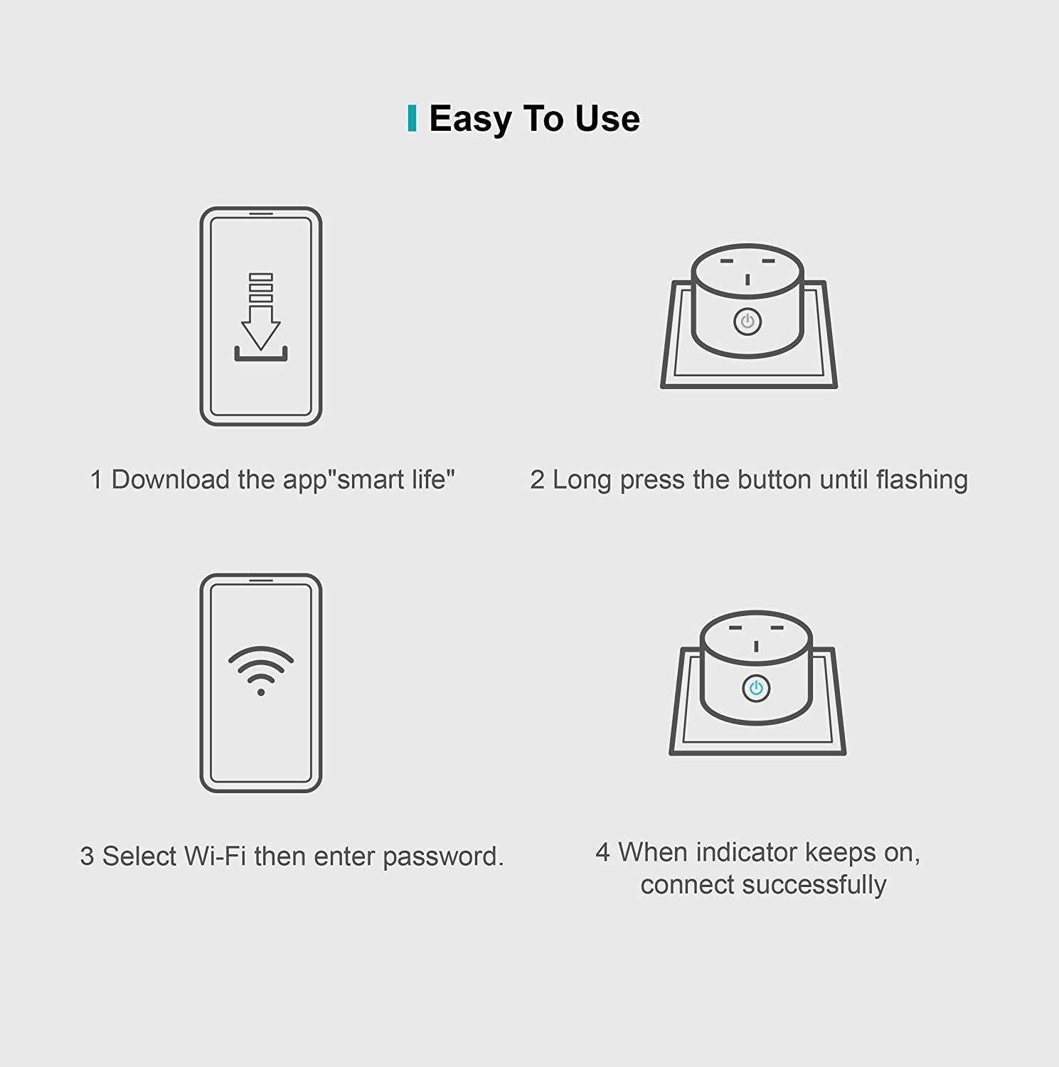 Google Home /& IFTTT White 2 Pack LaHuKo Smart Plug Mini Wifi Outlet Compatible with Alexa Remote Control your Home Appliances from Anywhere No Hub Required ETL Certified