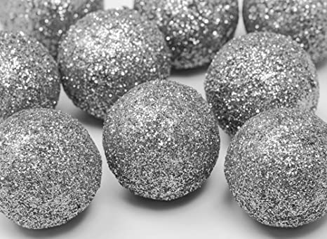 Festefeiern Weihnachts Deko I 9 Teile Deko Kugeln Silber Je