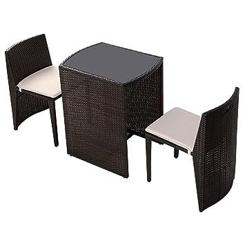 Amazonde Ld Gartenmöbel Rattan Lounge 3er Set Polyrattan