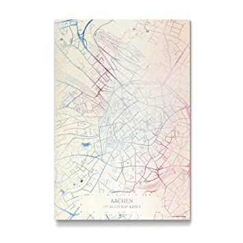 Amazon De Artboxone Galerie Print Aachen Deutschland Karte Rose
