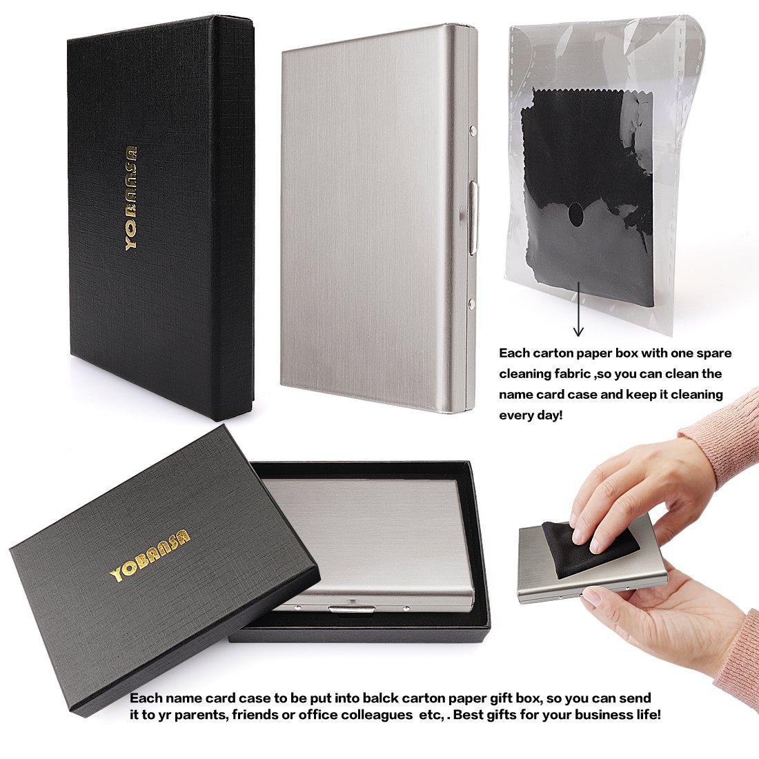 Rose Gold Yobansa/® Stainless Steel Rose Gold Business Card Holder Credit Card Case ID Card Holder Creidt Card Holder for Men and Women