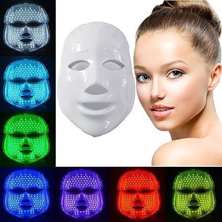 ... facial cuidado rejuvenecimiento fototerapia máscara belleza cara cuidado anti-envejecimiento mascarilla real máscara de belleza: Amazon.es: Belleza