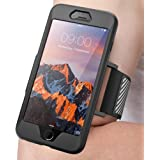 iPhone 7 Plus Armband, iPhone 8 Plus Armband, SUPCASE Easy Fitting Sport Running Armband Case with Premium Flexible Case Combo for Apple iPhone 7 Plus 2016 / iPhone 8 Plus 2017 (Black)