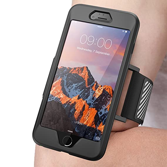 low priced 79f89 34e0f SUPCASE iPhone 7 Plus Armband, iPhone 8 Plus Armband, Easy Fitting Sport  Running Armband Case with Premium Flexible Case Combo for Apple iPhone 7  Plus ...