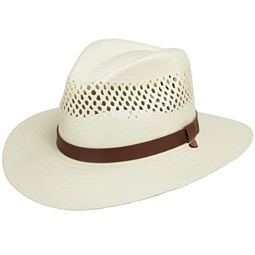 cd88e873f2c Stetson Digger Vented Straw Outback Hat at Amazon Men s Clothing store