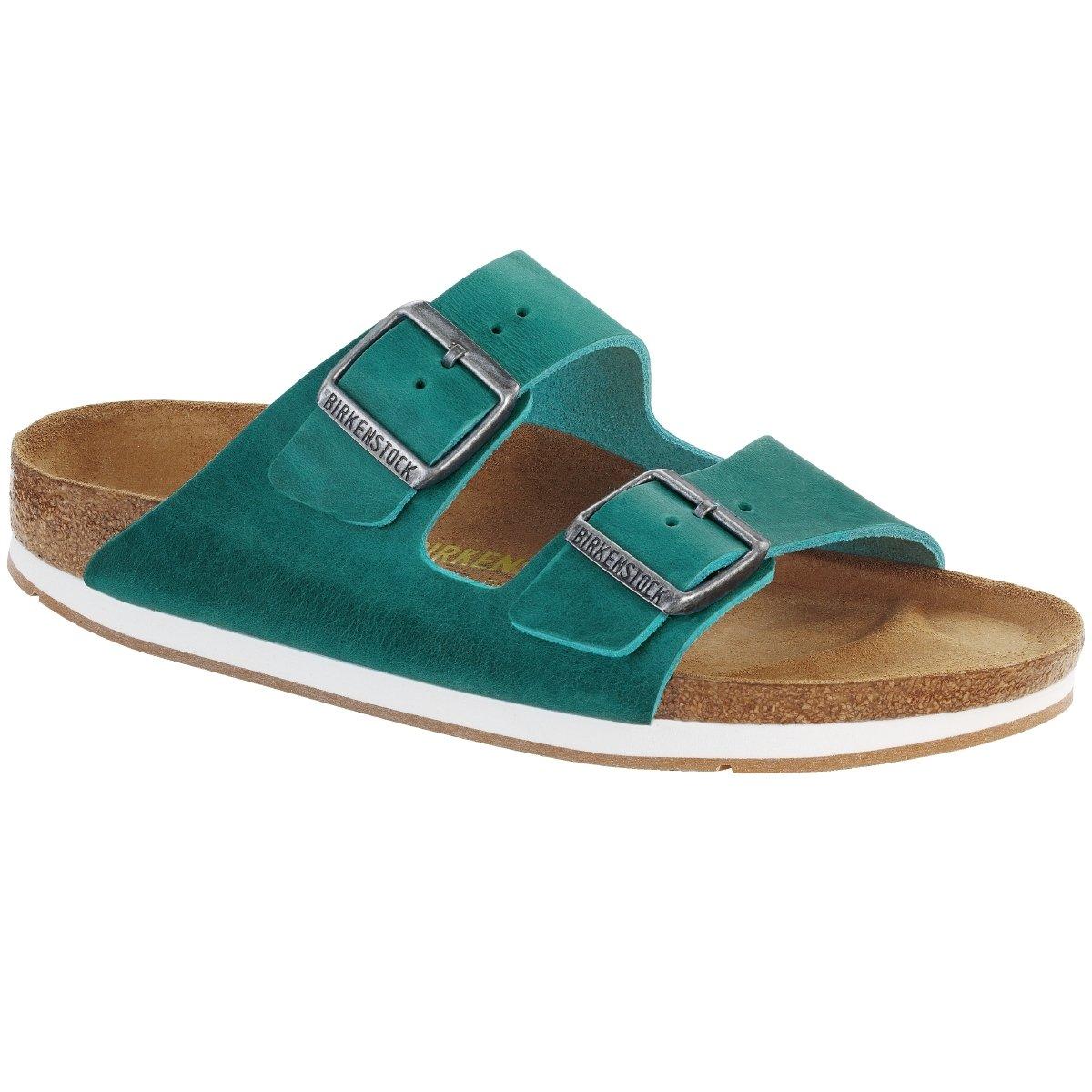 Birkenstock Arizona Leder - Mules Mujer 45|turquoise (057683)