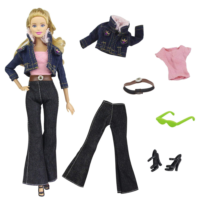 Barbie Doll  CHARCOAL COLORED Low waist PANTS