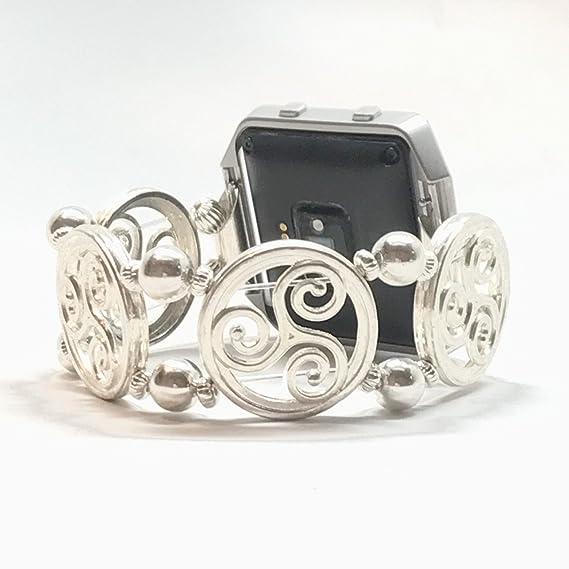 Amazon Fitbit Blaze Replacement Band Silver Plated Irish