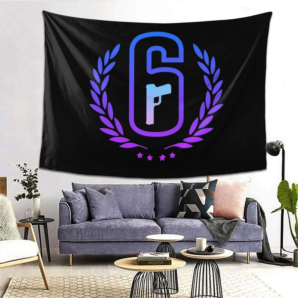 Hidreama Rainbow Six Siege Tapestry 3D Printing Wall Hanging Blanket Wall Art for Living Room Bedroom Home Decor 80×60 Inches