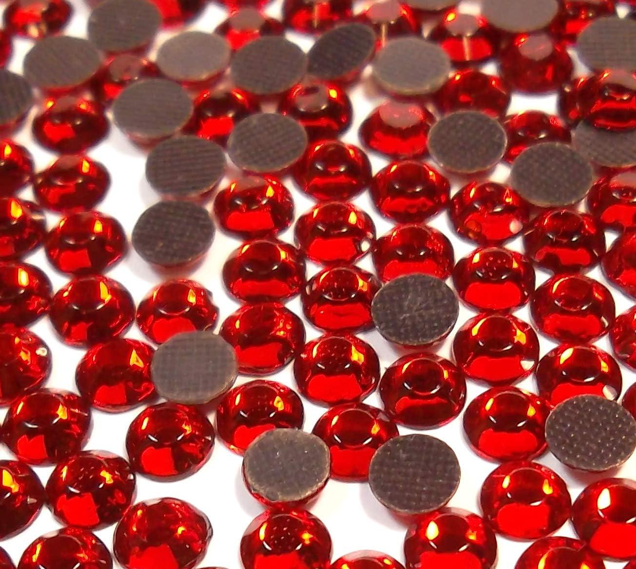 Perlin – Piedras de estrás Hotfix, color rojo, 1440 unidades, 6 mm, SS30, para planchar, Hotglue, piedras brillantes, perlas de cristal